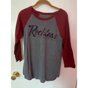 Young Reckless brand new three quarter sleeve